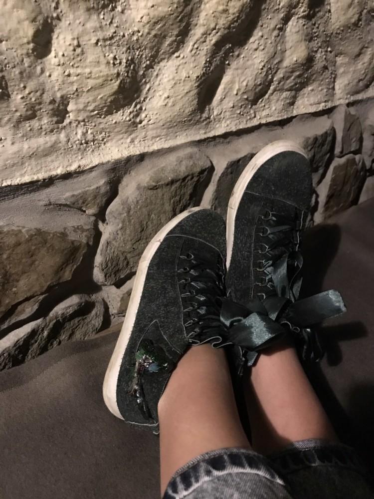 Кеды ботинки  кожа замша новинка ! возможны разные цвета ! фото №11