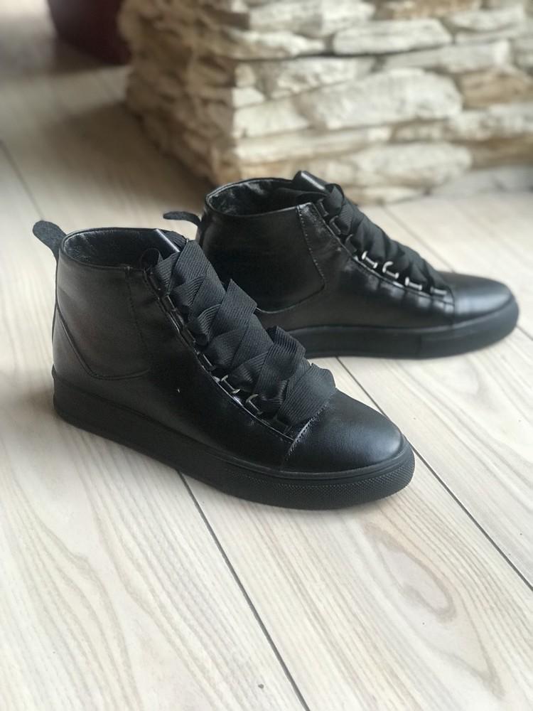 Кеды ботинки  кожа замша новинка ! возможны разные цвета ! фото №13