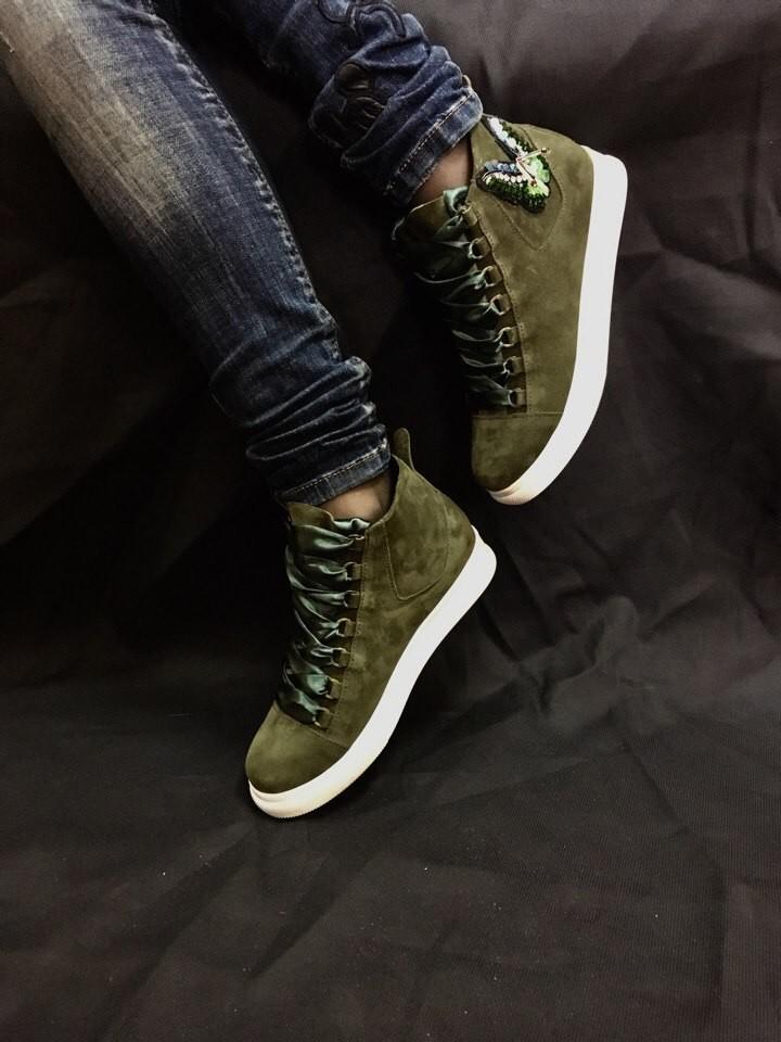 Кеды ботинки  кожа замша новинка ! возможны разные цвета ! фото №2