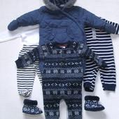 Одежда на зиму для мальчика 3-6 мес + подарок
