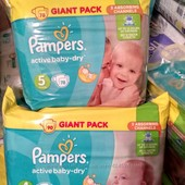 подгузники Pampers Active Baby Dry Giant pack