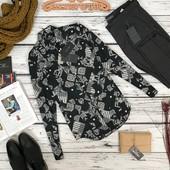 Мужская сорочка с контрастным принтом от Zara  BL5158
