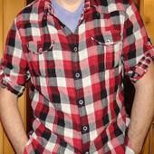 Брендовая стильная рубашка Pull and Bear хл