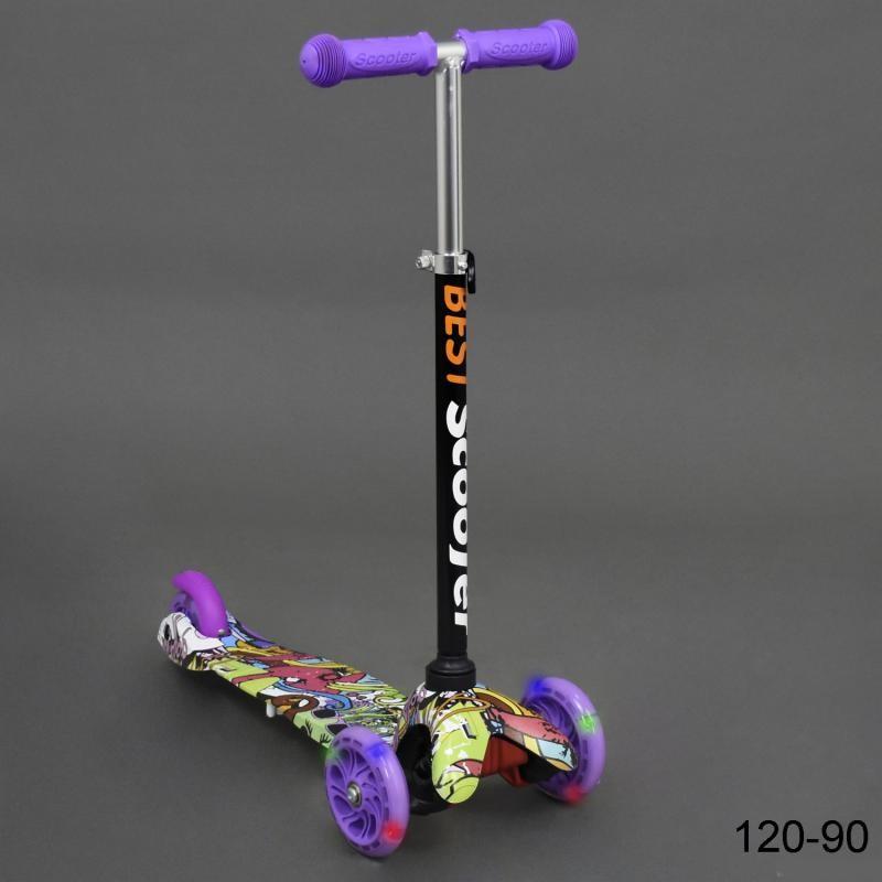 Бест скутер 120 мини 1, 5 - 5 лет самокат трехколесный детский best mini фото №1