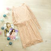 XS-S Невероятное кружевное платье golden rose oasis