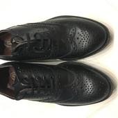 Броги кожа, туфли мужские новые