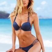 Новый темно-синий купальник Victoria's Secret Bombshell оригинал большой двойной пуш-ап бомбшелл
