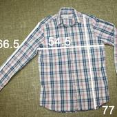 классная рубашка мужская, р М-L, замеры на фото