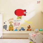 вінілова наклейка на стіну стену стены Прикольные животные на авто