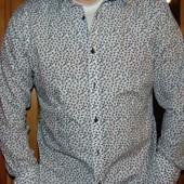 Нарядная брендовая стильная рубашка Jeff Banks л-хл .