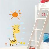 Вінілова інтер'єрна наклейка жираф + солнце