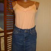 Юбка джинсовая темно синяя р.8 Marks & Spencer