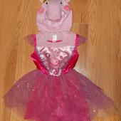 Новогоднее платье Peppa Pig для девочки 1-2 года, 92 см
