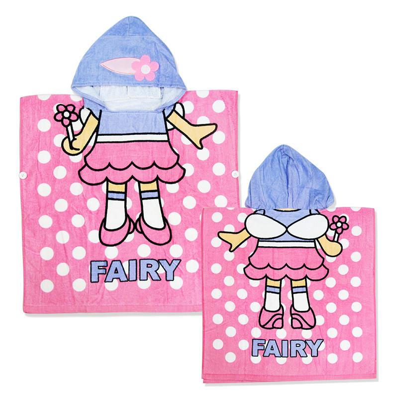 Детское полотенце пончо, для девочки. огромный выбор. хлопок 100% фото №1