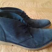 Кожаные фирменные ботинки Selected р.41-27см