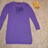 брендовый  свитер туника Ted Baker на 7-8 лет рост 128 с ангорой