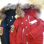 Куртки зимние производства Гонконг на 3-5 лет