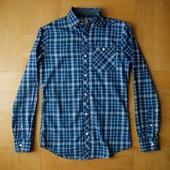 164 см Next шикарная рубашка хлопок на худого мальчика. Длина - 70 см, ширина под руками 46 см, тали