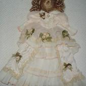 платье и парик для коллекционной куклы