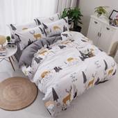 Полуторный двухсторонний комплект постельного белья для детей и подростков
