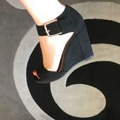 Женские замшевые черные босоножки Ronzo – 35 р. (23 см по стельке)