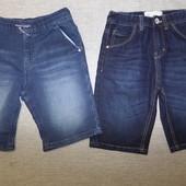 джинсовые шорты фирменные на 8-9 лет