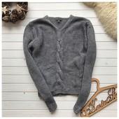 Крутой свитер с косой рр М
