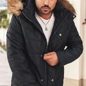 Размеры 50-56 Стильная зимняя мужская куртка