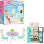 Мебель для барби кухня столовая Gloria 2812 кукольная мебель В коробке 24,5*26*7см