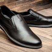 Туфли CHEcO, натур. кожа, р. 40-45, син, черн,, код kv-2870
