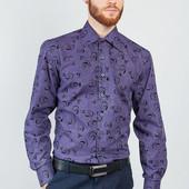 Размеры 42-48 Стильная мужская рубашка