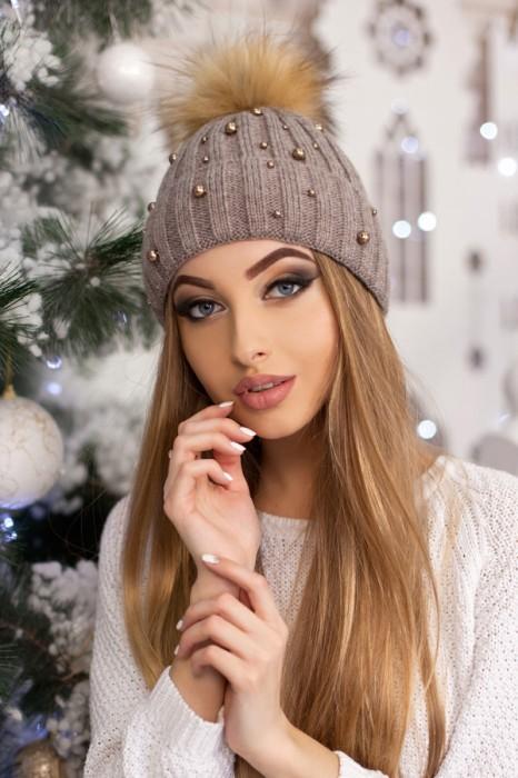 Красива модная шапка «модена» артикул 5096 фото №9