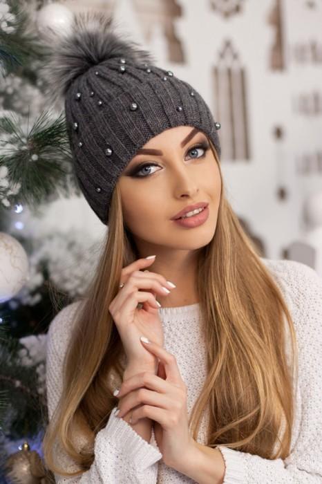 Красива модная шапка «модена» артикул 5096 фото №10