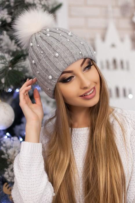 Красива модная шапка «модена» артикул 5096 фото №11