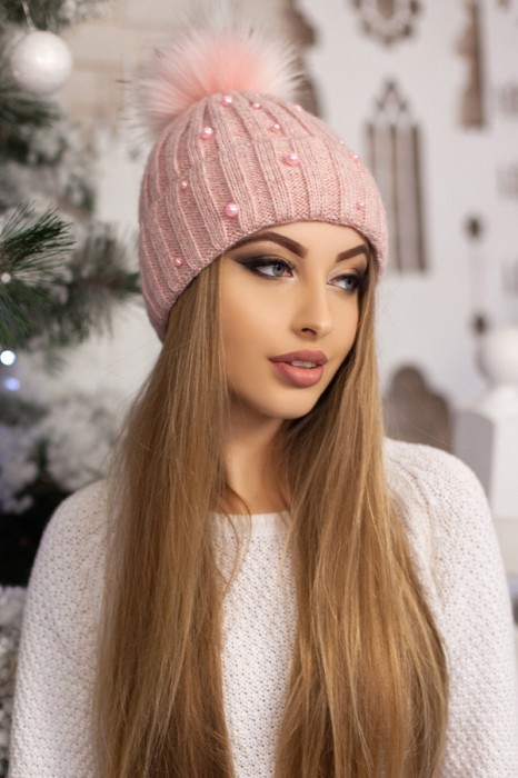 Красива модная шапка «модена» артикул 5096 фото №12