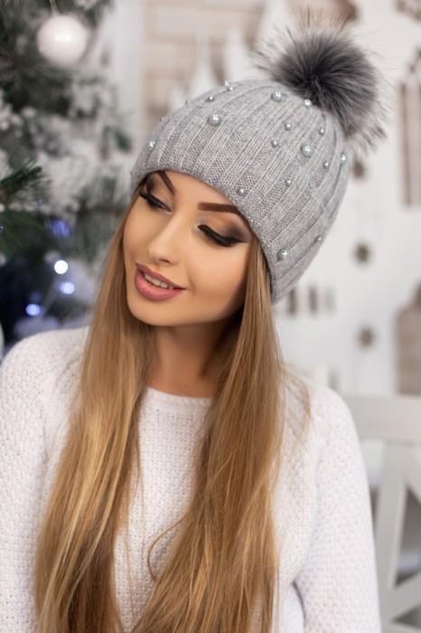 Красива модная шапка «модена» артикул 5096 фото №13