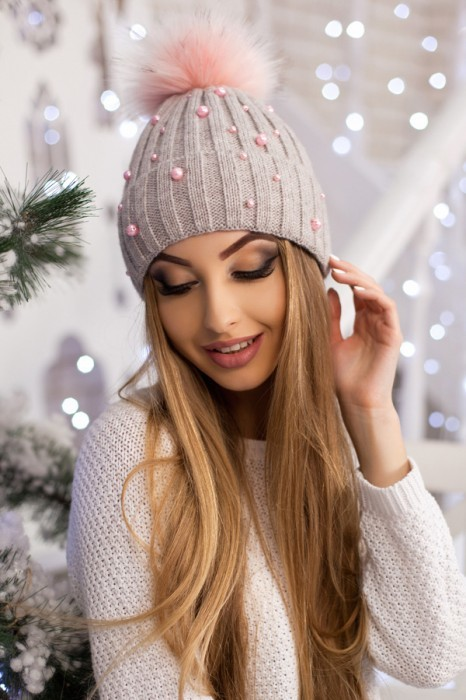 Красива модная шапка «модена» артикул 5096 фото №1