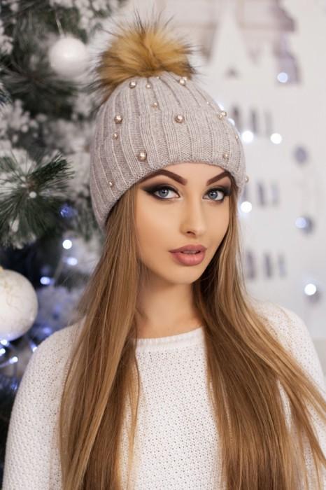 Красива модная шапка «модена» артикул 5096 фото №2
