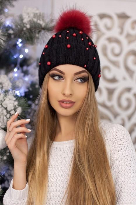 Красива модная шапка «модена» артикул 5096 фото №3