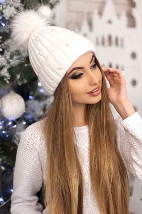 Красива модная шапка «модена» артикул 5096 фото №4