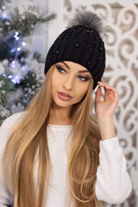 Красива модная шапка «модена» артикул 5096 фото №5