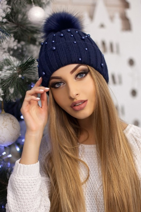 Красива модная шапка «модена» артикул 5096 фото №6