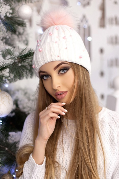 Красива модная шапка «модена» артикул 5096 фото №7