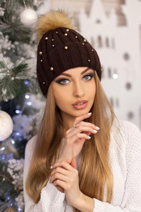 Красива модная шапка «модена» артикул 5096 фото №8