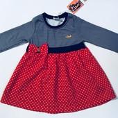 Платье для девочек на 2-5 лет