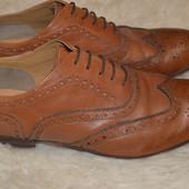 Стильные туфли броги Topman 45 р.,30.5 см, натуральная кожа