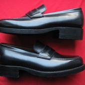 Новые W.Gibbs (41.5, 26,5 см) кожаные туфли лоферы мужские