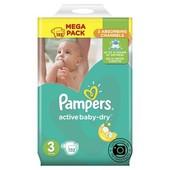 Подгузники Pampers Active Baby-Dry, размер 3 (5-9кг) 152шт