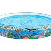 Бассейн детский каркасный «Подводный мир» Inteх  (244*46 см)