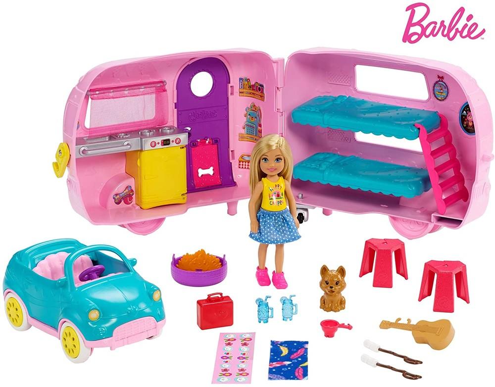 Игровой набор челси и фургон для кемпинга mattel barbie club chelsea camper фото №1